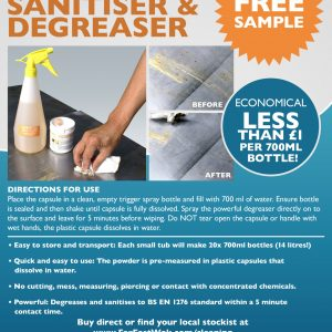 Food safe sanitiser and degreaser 3 in 1 information