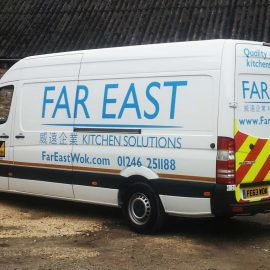 Far East Kitchen Solutions service engineer van