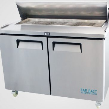 counter preparation fridge