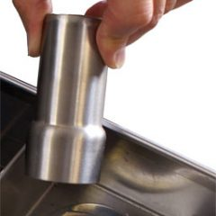 Stainless steel waste plug plunger