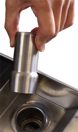 Stainless steel waste plug plunger