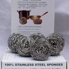 Stainless steel scrubber for kitchen (box of 6)