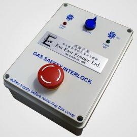 Gas interlock control panel for catering