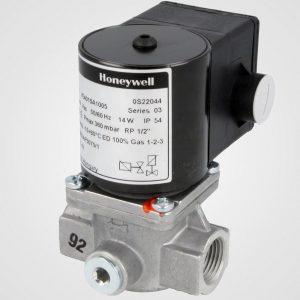Gas solenoid valve for gas interlock