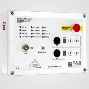 SNS Northern Merlin interlock panel with fan speed control. Medem CO2 Intelligas Ventam Trent