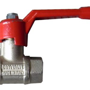"""3/8"""" water tap valve with red handle"""