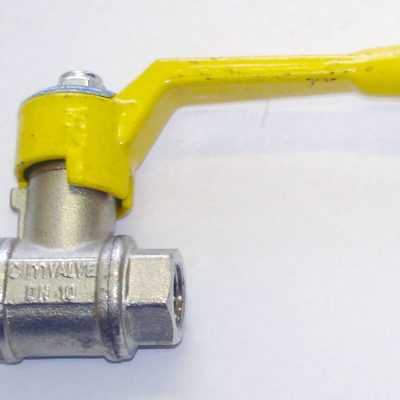 "1/2"" gas valve with yellow handle"