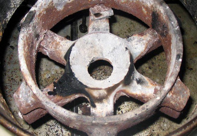 Old wok burner