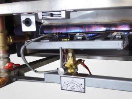 Steamer gas burner