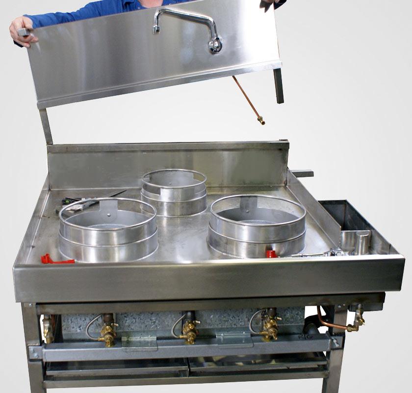 chinese wok cooking ranges