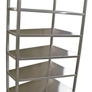Stainless steel bespoke custom catering shelving