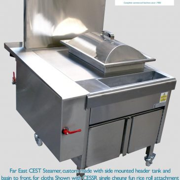 CEST custom built steamer with side tank and front basin