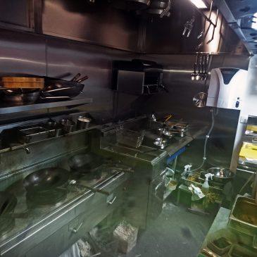 Main cookline showing superslim wok cooker