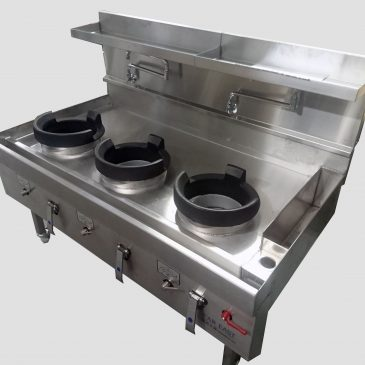 CEFT30R special size wok cooker with knee taps, additional spouts, cast iron rings