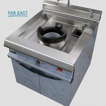 Drop in recess undercounter wok burner bespoke custom