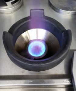 Turbo burner with cone insert