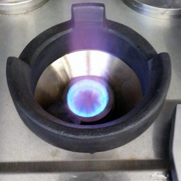 Turbo burner with insert cone