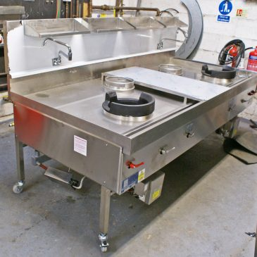 Special made wok cooker extra large with turbo burners