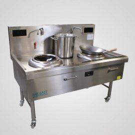 Induction wok range twin ring IW19
