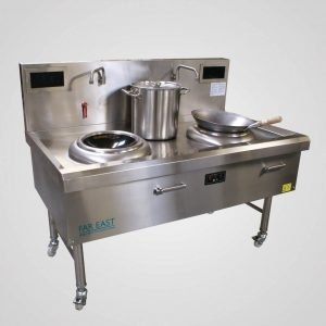 Induction wok range twin ring IW19